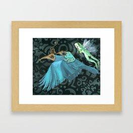 Flying Frogs Framed Art Print