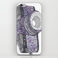 camera iPhone & iPod Skins featuring camera by smurfmonster