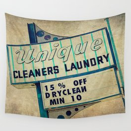 Unique Laundry Sign Wall Tapestry