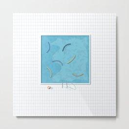 Grid pool session Metal Print
