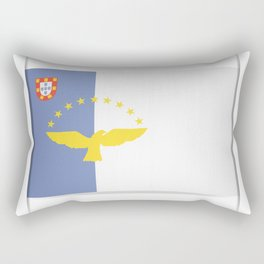 Flag of Azores. The slit in the paper with shadows. Rectangular Pillow