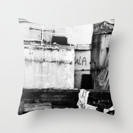 Destroyed - B/W Throw Pillow