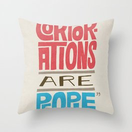 Romney: Corporations Are People Throw Pillow
