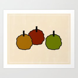 """Three Apples"" Art Print"