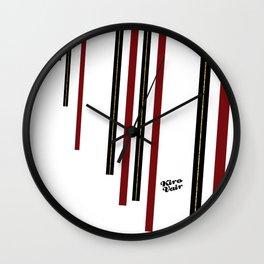 Christmas Red Minimalism #buyart #kirovair #design #minimalism #christmas #holidays Wall Clock