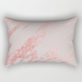 Porcelain grey rose gold Rectangular Pillow