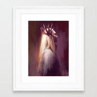 thranduil Framed Art Prints featuring Thranduil by Angela Taratuta