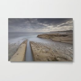 Salina, Malta Seascape Metal Print