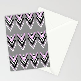 Geometric V Pattern Stationery Cards