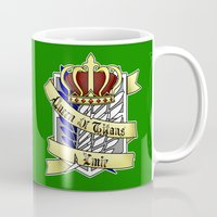 teen titans Mugs featuring Queen of Titans Ymir by Beasty