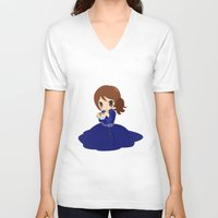 ouat V-neck T-shirts featuring OUAT - Belle by Choco-Minto