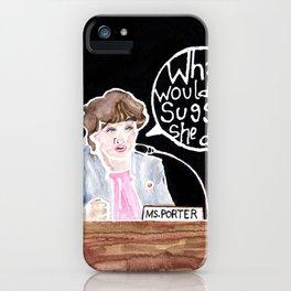 Congresswoman Katie Porter iPhone Case