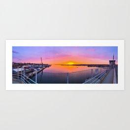 Sunrise over Portland, Maine Art Print