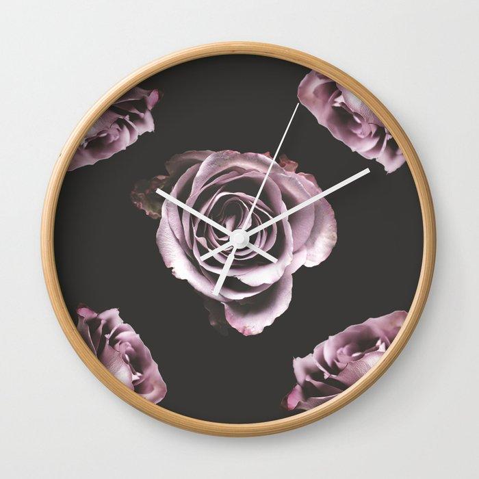 Dark roses Wall Clock
