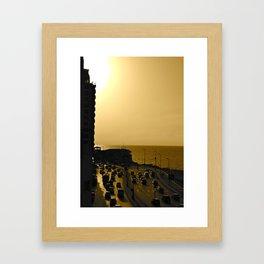 Corniche Framed Art Print