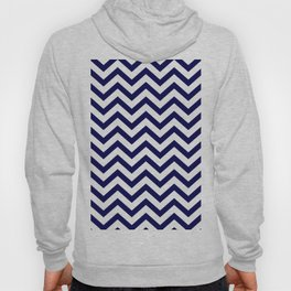 Simple Chevron Pattern - Blue & White - Mix & Match with Simplicity of life Hoody