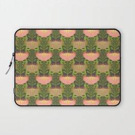 King Protea Flower Pattern - Gray Laptop Sleeve