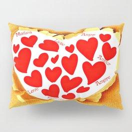 Love in languages Pillow Sham