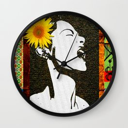 Lady Day in floral Wall Clock