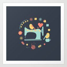Love sewing Art Print