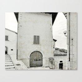 Italian street view Canvas Print