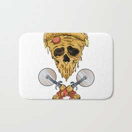 skull pizza slice Bath Mat