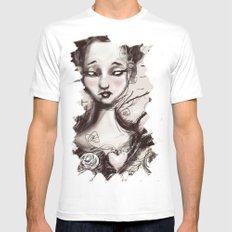 Scatter Heart MEDIUM White Mens Fitted Tee