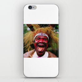 Eating a Betel Nut in Papua New Guinea iPhone Skin