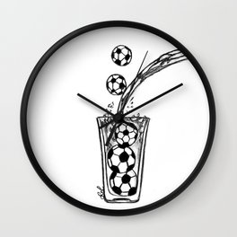Glass of football balls Wall Clock