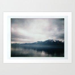 Brume sur Montreux Art Print