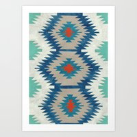 kilim Art Prints featuring kilim I by Amylin Loglisci