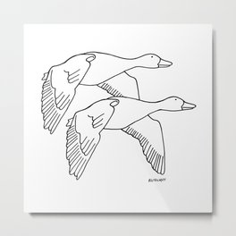 Geese in Flight #2 Metal Print