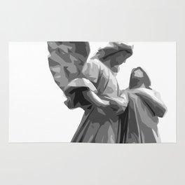 Angel Statue Rug