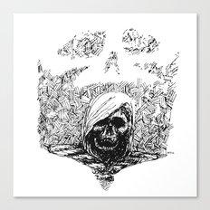 Skull Lady Canvas Print