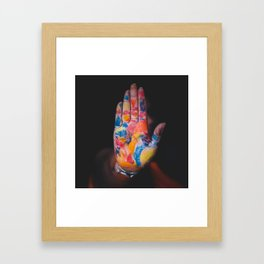Colored hand Framed Art Print