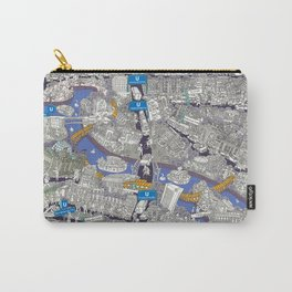Illustrated map of Berlin-Mitte. Blue Carry-All Pouch