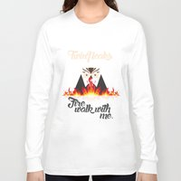 twin peaks Long Sleeve T-shirts featuring Twin peaks by sgrunfo