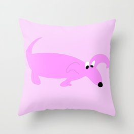 PURPLE SNIFFER DOG Throw Pillow