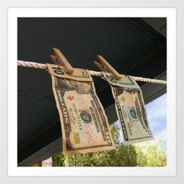 Hanging to Dry Art Print