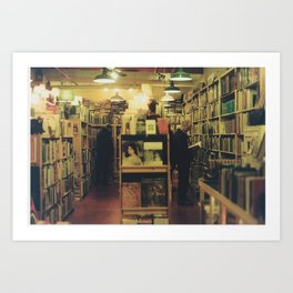Pike Place Book Store Art Print