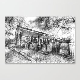 Greyfriars Kirk Edinburgh Vintage Canvas Print