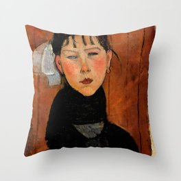"Amedeo Modigliani ""Marie (Marie, fille du peuple)"" Throw Pillow"