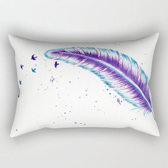 Birds Off A Feather Rectangular Pillow