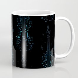 Creative violin silhouette Coffee Mug