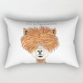Introvert llama Rectangular Pillow