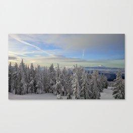 (#3) Wind-blown Cloud Caps on Mount Jefferson Canvas Print