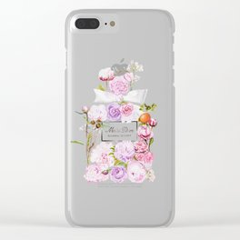 Parfum Perfume Fashion Floral Flowers Blooming Bouquet Clear iPhone Case