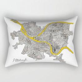 Pittsburgh Neighborhoods | 3 Gold Rivers Rectangular Pillow