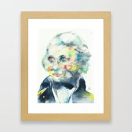 HORATIO NELSON - watercolor portrait Framed Art Print