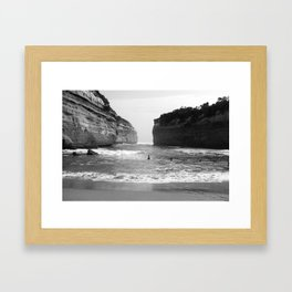 Between The Rock and The Hard Place Framed Art Print